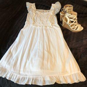 NWOT Beautiful White Cotton Exhilaration Dress